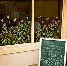 Интерьерная наклейка цветы   (96х42см)