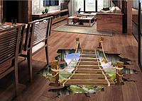 Интерьерная наклейка Деревянный мост 3D  (90х60см), фото 1