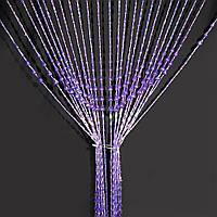 Штора декоративна пластик крапля 80х175 см фіолетова (48707.001)