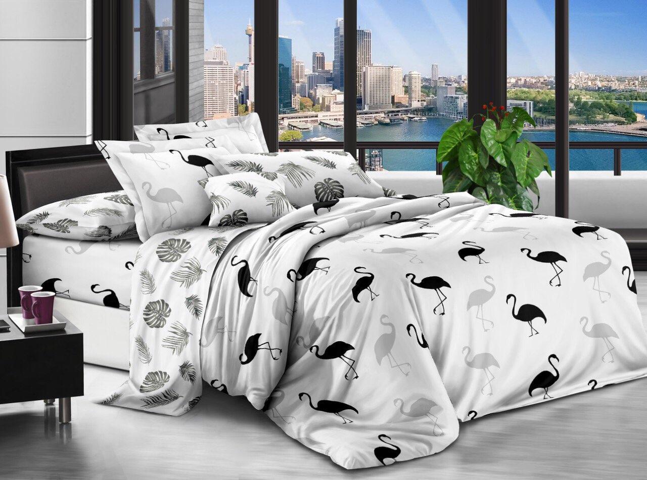 Двуспальный комплект постельного белья (ранфорс, 180*220 см)