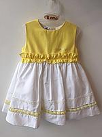 Детское платье для девочки Нарядная одежда для девочек Одежда для девочек 0-2 Byblos Италия BJ3666 Белый