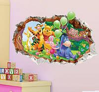 Интерьерная наклейка Винни-Пух 3D (70х50см), фото 1