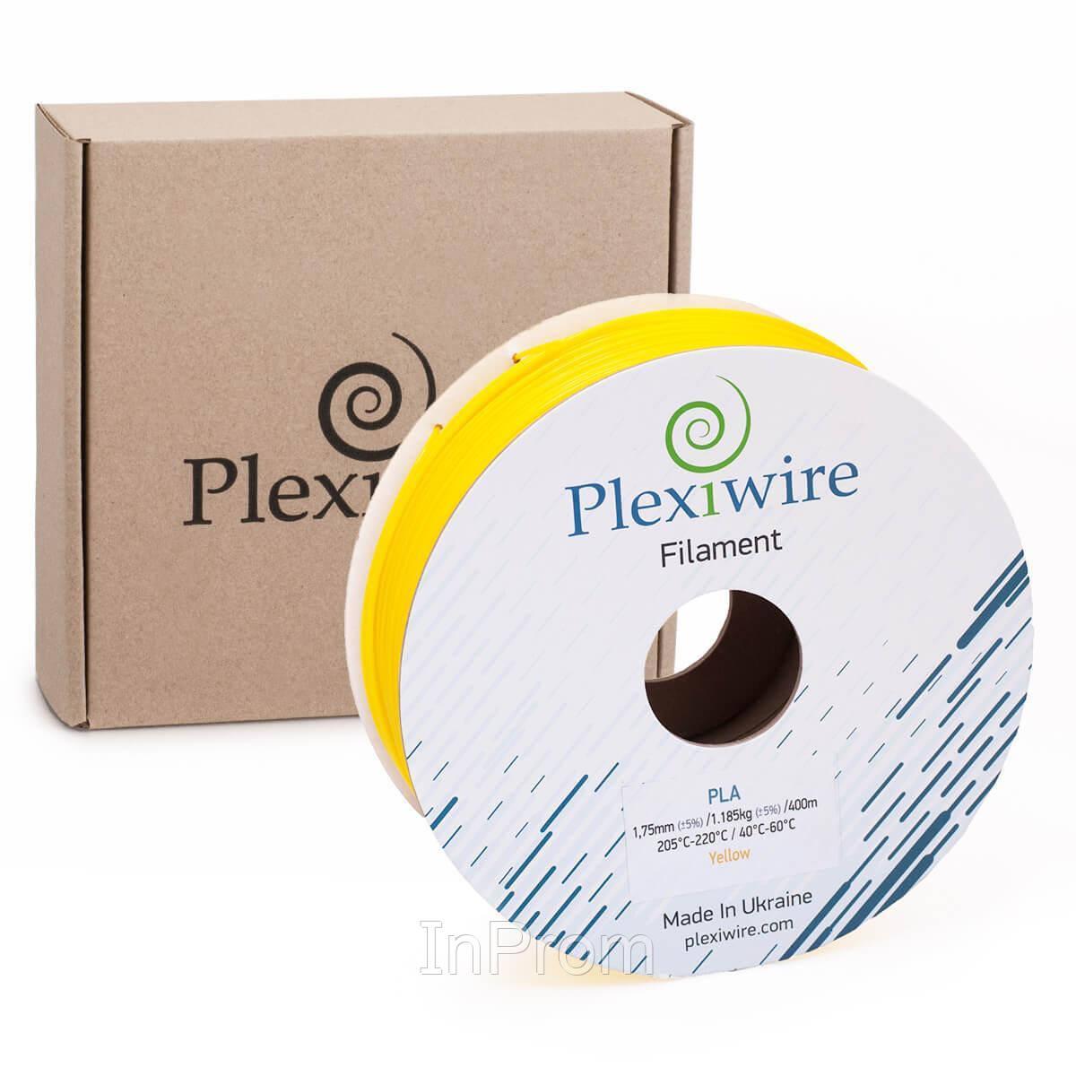 PLA пластик для 3D принтера 1.75мм желтый (300м / 0.9кг)