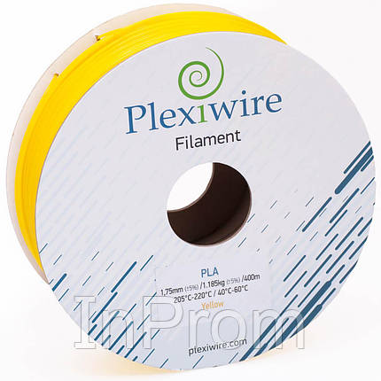 PLA пластик для 3D принтера 1.75мм желтый (300м / 0.9кг), фото 2