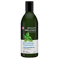 Гель для ванны и душа с глицерином Мята, 355мл, Avalon Organics