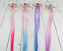 Детские заколки для волос LOL с цветными прядками 35 см 6 шт/уп., фото 3