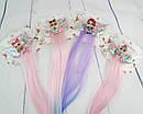 Детские заколки для волос LOL с цветными прядками 35 см 6 шт/уп., фото 5