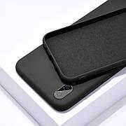 Силиконовый чехол SLIM на Iphone Xs Max Black