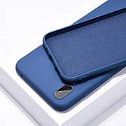 Силиконовый чехол SLIM на Iphone Xs Max Blue Cobalt