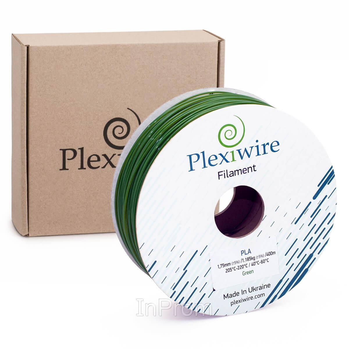 PLA пластик для 3D принтера 1.75мм зеленый (300м / 0.9кг)