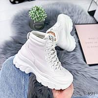 Ботинки женские Carina белые , женская обувь