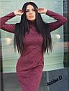 Трикотажное платье - гольф длиной миди с длинным рукавом 7plt140, фото 2