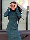 Трикотажное платье - гольф длиной миди с длинным рукавом 7plt140, фото 4