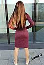 Трикотажное платье - гольф длиной миди с длинным рукавом 7plt140, фото 5