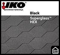 Битумная черепица IKO Superglass™ HEX  Black 3 м.кв./уп.