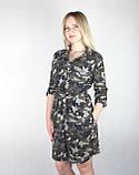 Женское камуфляжное платье-рубашка с поясом, фото 6