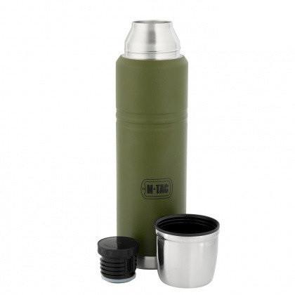 M-Tac термос 1000 мл олива/нерж.