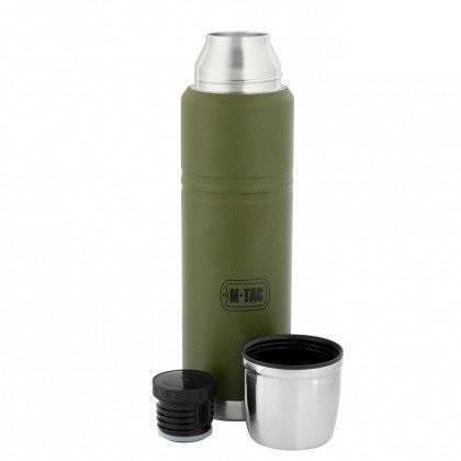 M-Tac термос 1000 мл олива/нерж., фото 2