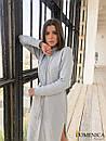 Кашемировое теплое длинное платье свободное 31plt149, фото 2
