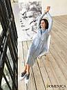 Кашемировое теплое длинное платье свободное 31plt149, фото 4