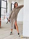 Кашемировое теплое длинное платье свободное 31plt149, фото 5