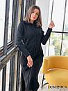 Кашемировое теплое длинное платье свободное 31plt149, фото 6