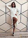 Кашемировое теплое длинное платье свободное 31plt149, фото 7