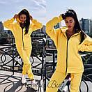 Женский утепленный спортивный костюм на флисе с удлиненной кофтой на молнии 56spt747, фото 3