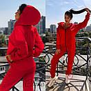 Женский утепленный спортивный костюм на флисе с удлиненной кофтой на молнии 56spt747, фото 4