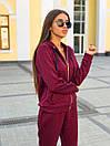 Женский спортивный костюм из трикотажа с молнией на мастерке 63spt750, фото 3
