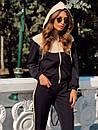 Женский спортивный костюм с капюшоном и мастеркой на молнии 73spt753, фото 2