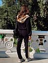 Женский спортивный костюм с капюшоном и мастеркой на молнии 73spt753, фото 3