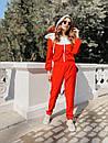 Женский спортивный костюм с капюшоном и мастеркой на молнии 73spt753, фото 4