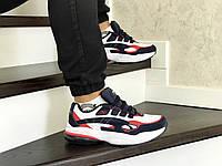 Мужские кроссовки в стиле Puma Cell Venom, сетка, замша, пена, синие с белым и красным 45 (28,4 см)