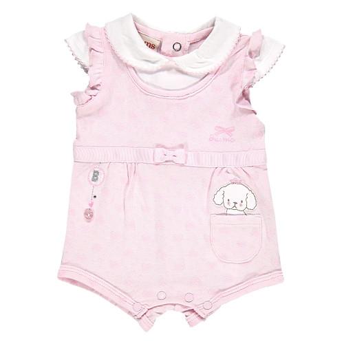 Песочник для девочки Одежда для девочек 0-2 BRUMS Италия 141BCFZ001 розовый