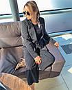 Женский деловой костюм с брюками клеш укороченными и пиджаком 3kos200, фото 3