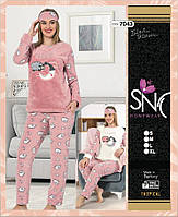 """Тёплая пижама """"SNC"""" Турция  7043"""