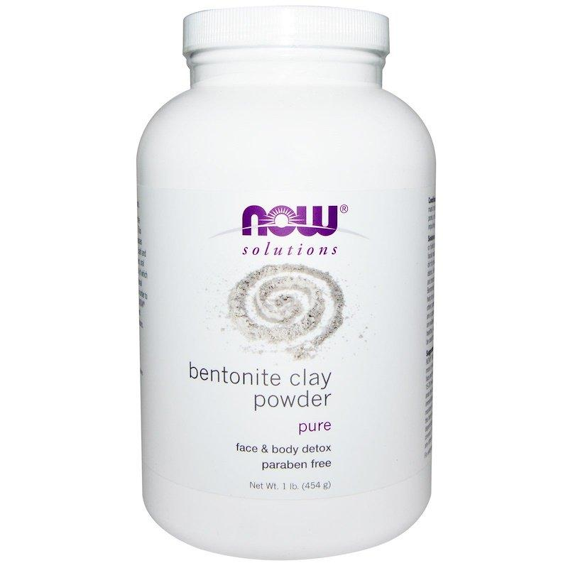 "Бентонітова глина NOW Foods, Solutions ""Bentonite Clay Powder"" порошок (454 г)"