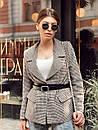 Женский демисезонный пиджак из твида в принт 73kar220, фото 2