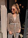Женский демисезонный пиджак из твида в принт 73kar220, фото 3