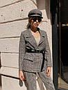 Женский демисезонный пиджак из твида в принт 73kar220, фото 4