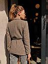 Женский демисезонный пиджак из твида в принт 73kar220, фото 5