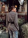 Женский демисезонный пиджак из твида в принт 73kar220, фото 6