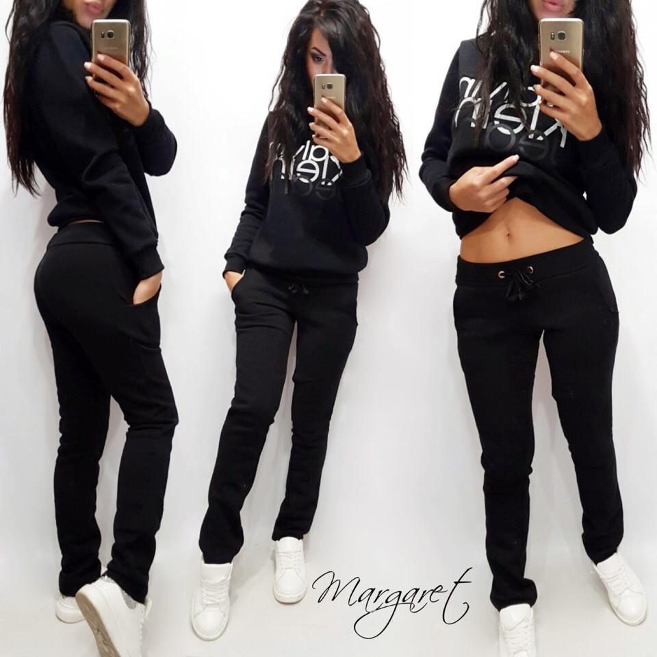 Женские утепленные штаны на флисе с манжетами 11bil379