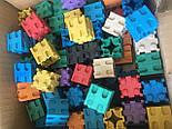 Кубики з різними способами з'єднання, 100 шт, 2x2x2 см, 10 кольорів, дерево, фото 3