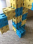 Кубики з різними способами з'єднання, 100 шт, 2x2x2 см, 10 кольорів, дерево, фото 2
