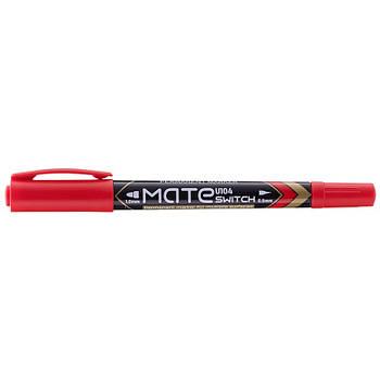 Маркер перманентный красный 1 мм / 0,5 мм двухсторонний