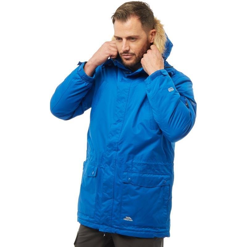 Мужская водонепроницаемая куртка парка Trespass Jaydin Insulated Waterproof Parka синяя оригинал