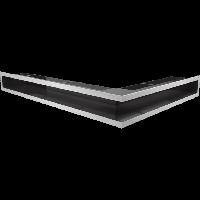Решетка LUFT SF шлифованная сталь угловая левая 76,6*54,7*9, фото 1