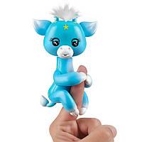 Оригинальная интерактивная фигурка Фингерлингс Жирафа Lil' G (голубая) WowWee Fingerlings Giraffe Lil' G 3556